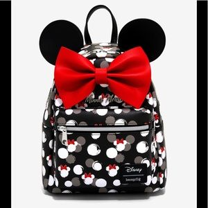 Loungefly Disney Minnie Mouse white heads backpack